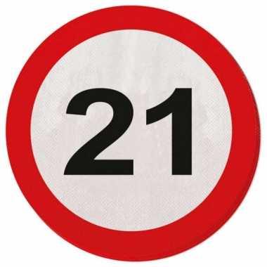 Servet 21 jaar verkeersbord