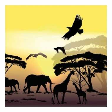 Servetten afrika safari 3-laags 20 stuks