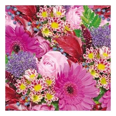 Servetten boeket bloemen 3-laags 20 stuks
