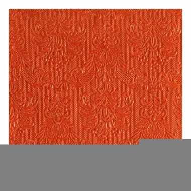 Servetten elegance oranje 3-laags 15 st