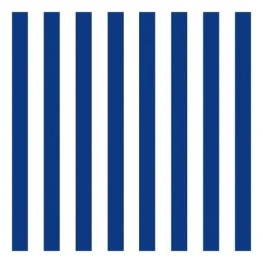 Servetten gestreept marineblauw/wit 3-laags 20 stuks