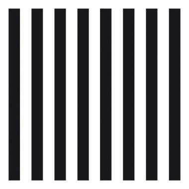 Servetten gestreept zwart/wit 3-laags 20 stuks