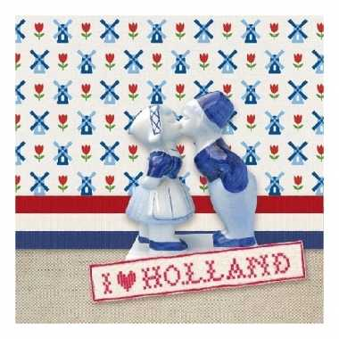 Servetten ik hou van holland thema 3-laags 20 stuks