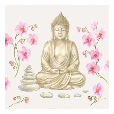 Servetten indische boeddha 3-laags 20 stuks