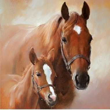 Servetten paard met veulen 3-laags 20 stuks