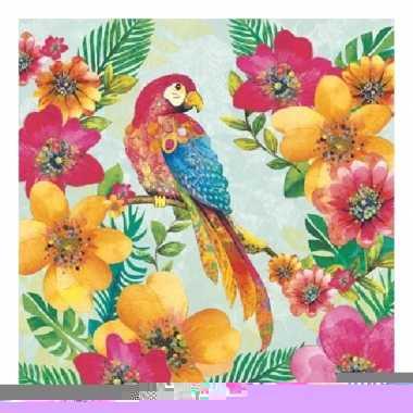 Servetten papegaai 3-laags 20 stuks