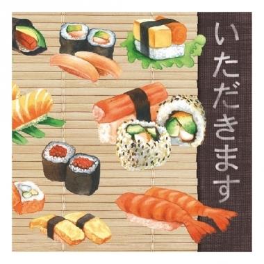 Servetten sushi 3-laags 20 stuks
