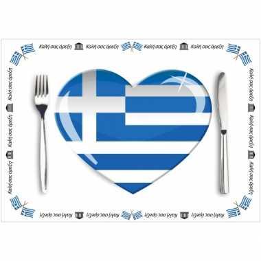 Set van 10 griekenland placemats