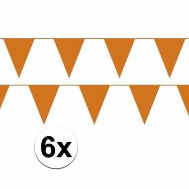 Set van 2 oranje slingers 10 meter