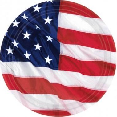 Set van 8 usa vlaggen bordjes