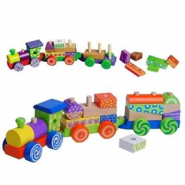 Set voor houten speelgoed trein