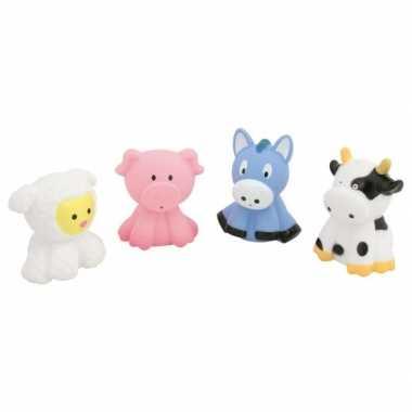 Setje van 4 plastic knijp dieren