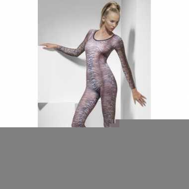 Sexy bodysuit tijgerprint