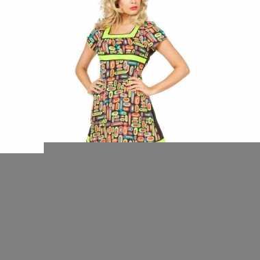 Sexy korte neon jurk voor dames