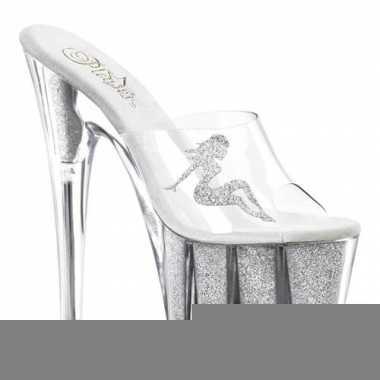 Sexy zilveren platform hakken