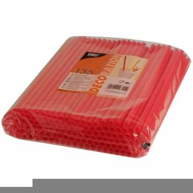 Shake rietjes rood 135 stuks 25 cm
