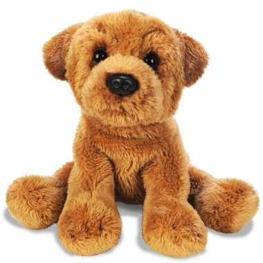 Sharpei speelgoed artikelen knuffelbeest bruin 13 cm