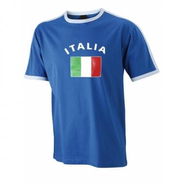 Shirts met vlag van italie heren