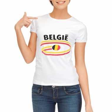 Shirts met vlaggen thema belgie voor dames