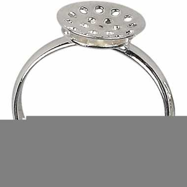 Sieraden maken basis ringen met gaatjes 3x