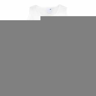 Singlet shirt/ tanktop europese vlag wit heren