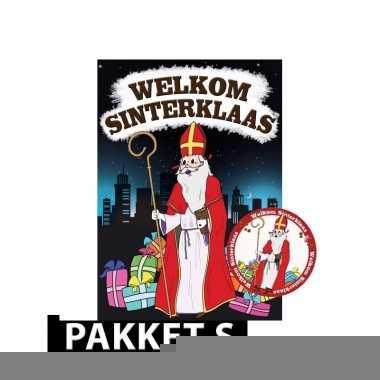 Sinterklaas - deurposter met 50 onderzetters sinterklaas
