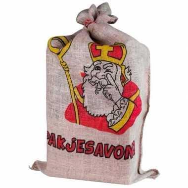 Sinterklaas - jute zak van sinterklaas 60 x 102 cm