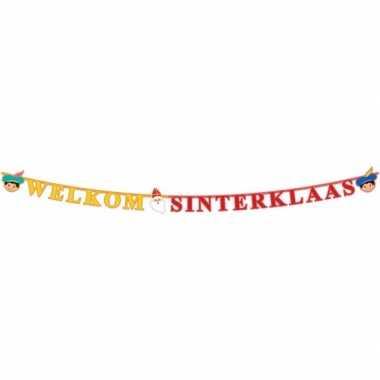 Sinterklaas - letterslinger welkom sinterklaas 230 cm