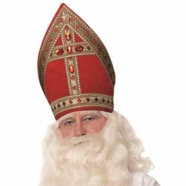 Sinterklaas luxe sinterklaas koker mijter katoenfluweel trend