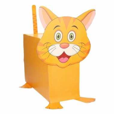 Sinterklaas oranje kat suprise bouwpakket