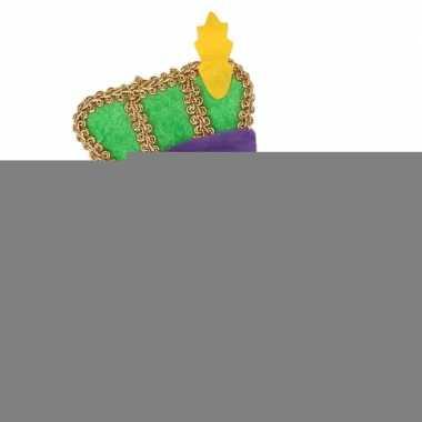 Sinterklaas - pieten diadeem met groen baretje voor volwassenen
