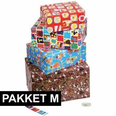 Sinterklaas - sint cadeaupapier pakket m met etiketten