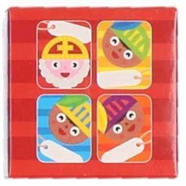 Sinterklaas - sint kado stickers in blauw doosje