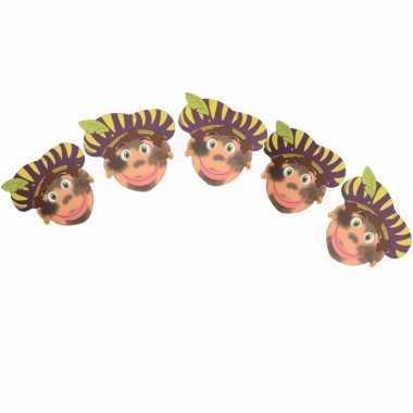 Sinterklaas - sinterklaas slinger pieten met paarse baret