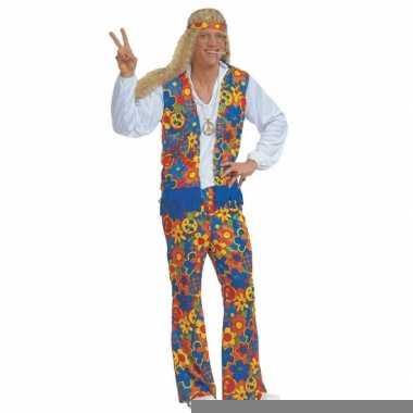 Sixties kostuum met peace tekens