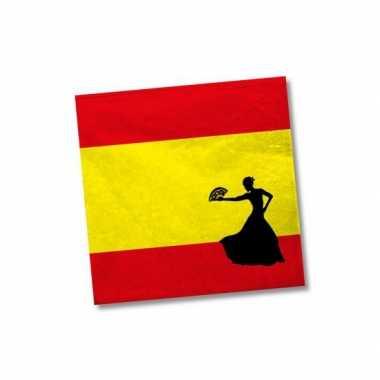 Spaanse flamenco servetten 40 st