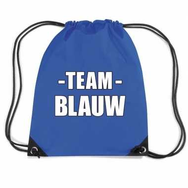 Sportdag team blauw rugtas/ sporttas