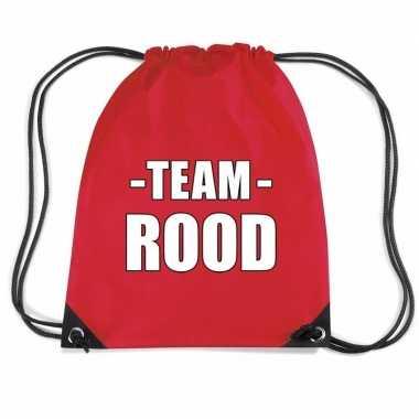 Sportdag team rood rugtas/ sporttas