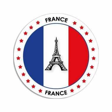 Sticker met franse vlag trend