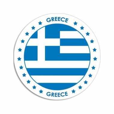 Sticker met griekse vlag trend