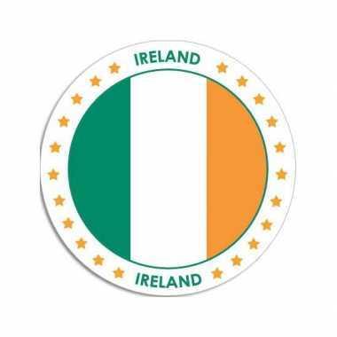 Sticker met ierse vlag