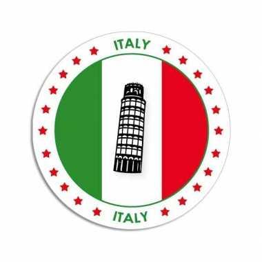 Sticker met italiaanse vlag trend