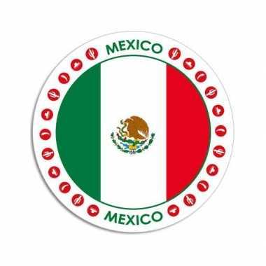 Sticker met mexicaanse vlag