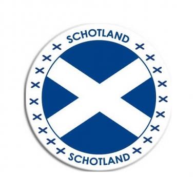 Sticker met schotse vlag