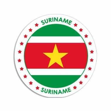 Sticker met surinaamse vlag