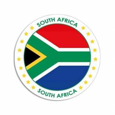 Sticker met zuid afrikaanse vlag trend