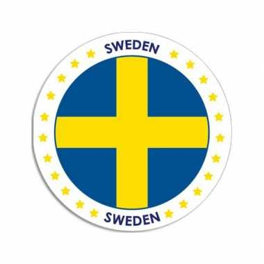 Sticker met zweedse vlag trend