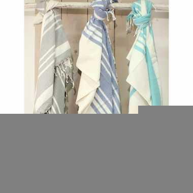 Strandkleed hamamdoek zeegroen 200 x 240 cm