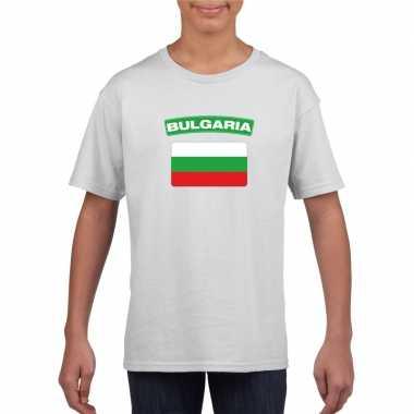 T-shirt met bulgaarse vlag wit kinderen