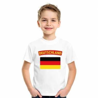 T-shirt met duitse vlag wit kinderen